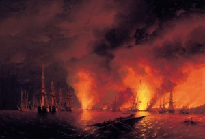 Public Domain painting from the Crimean War
